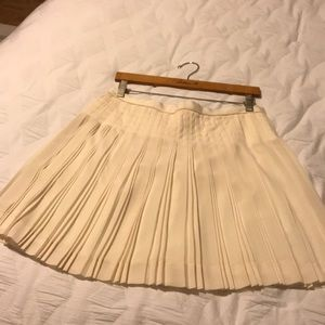 J Crew Pleated Cream Skirt Size 8
